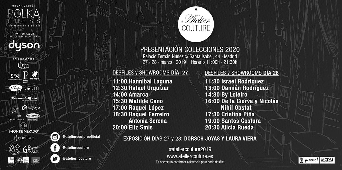 Anverso Invitación Atelier Couture 2019