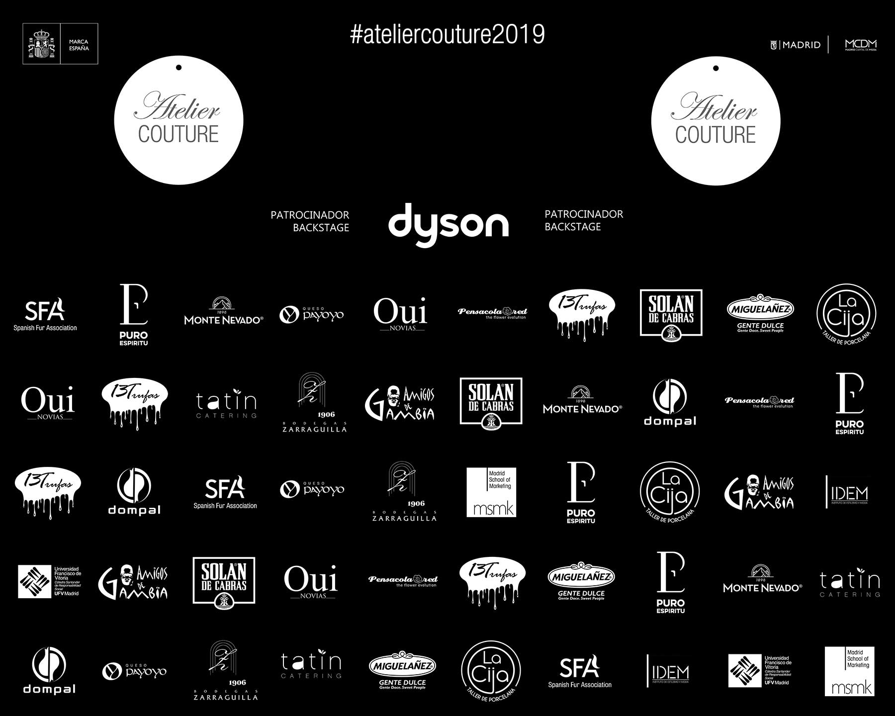 Photocall Atelier Couture 2019