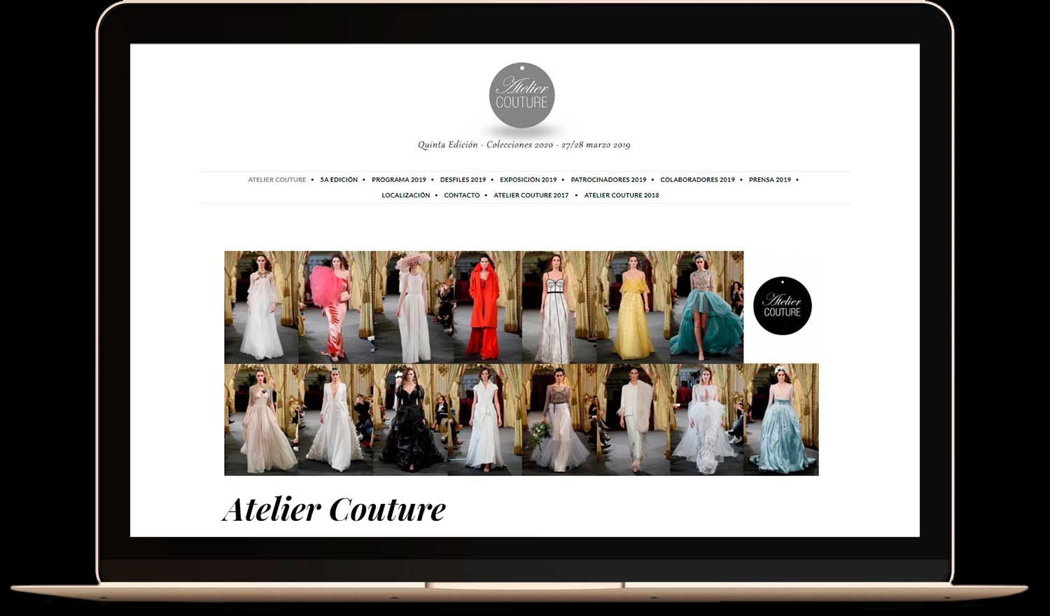 Pagina web Atelier Couture